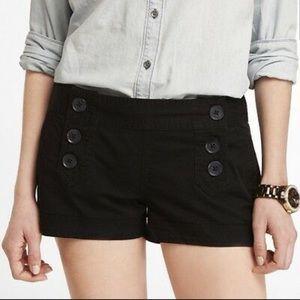 Express Double Button Sailor Shorts